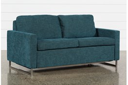 "Branson Teal 66"" Full Sofa Sleeper"