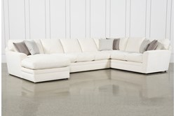 """Prestige Down 3 Piece 159"""" Sectional With Left Arm Facing Chaise"""