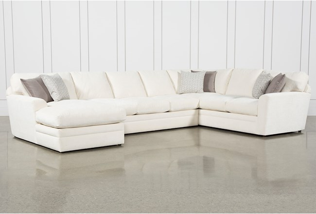 Prestige Down 3 Piece Sectional With Left Arm Facing Chaise Living