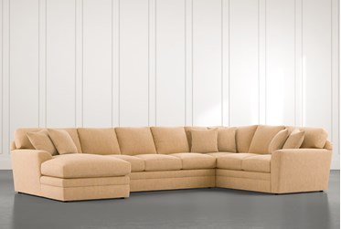 Prestige Down Yellow 3 Piece Sectional With Left Arm Facing Chaise