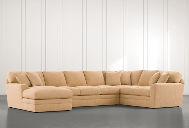 Prestige Down Yellow 3 Piece Sectional With Left Arm Facing Chaise - 360