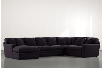 Prestige Down Black 3 Piece Sectional With Left Arm Facing Chaise