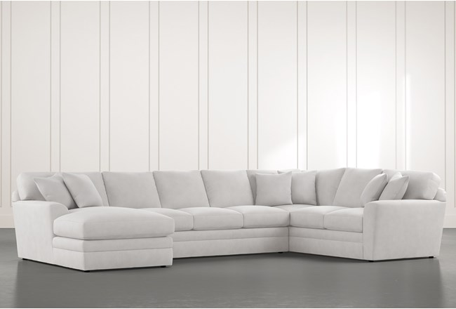 Prestige Down Light Grey 3 Piece Sectional With Left Arm Facing Chaise - 360