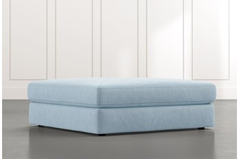 Prestige Light Blue Oversized Ottoman