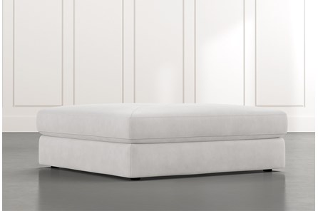 Prestige Light Grey Oversized Ottoman