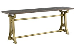 Mixed Metal Console Table