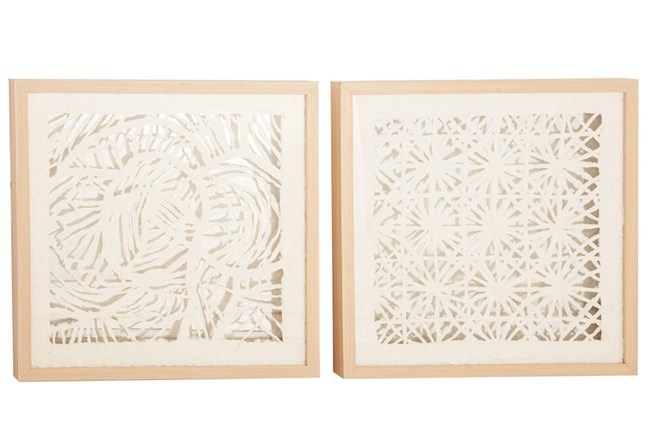 Laser Cut Paper Shadowbox Set Of 2 - 360