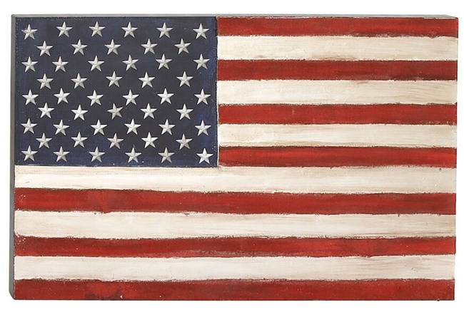 Canvas American Flag - 360
