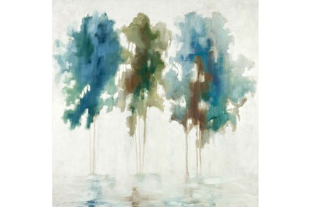 Picture-Blue Tree Trio 28X28