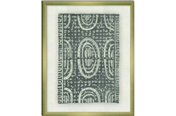 Picture-Grey Mudcloth Paper Shadowbox 23.5X29.5
