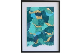 Picture-Ocean Waves Paper Shadowbox 23.5X31.5
