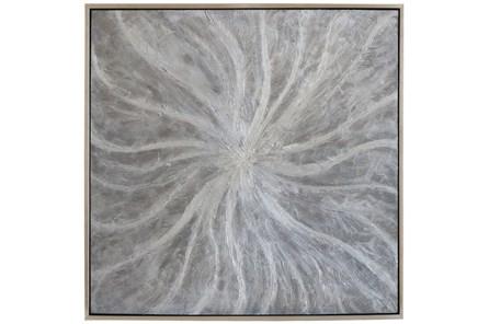 Picture-Silver Pearl Swirl 37.5X37.5
