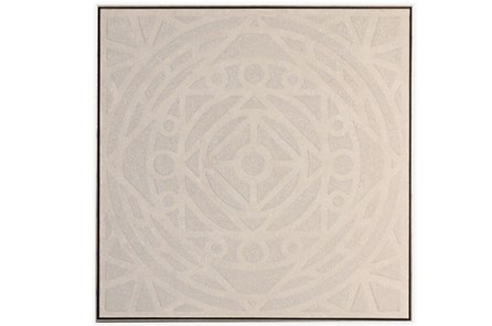 Picture-Enchanted Mandala Embellished Canvas 37.5X37.5