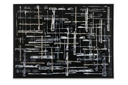 Picture-Crossed Pathways Black Glass Embellishements 41X31