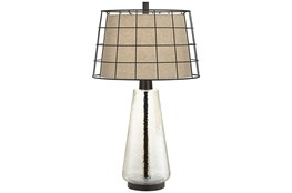 Table Lamp-Clear Grid