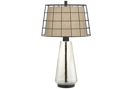Table Lamp-Clear Grid - Main