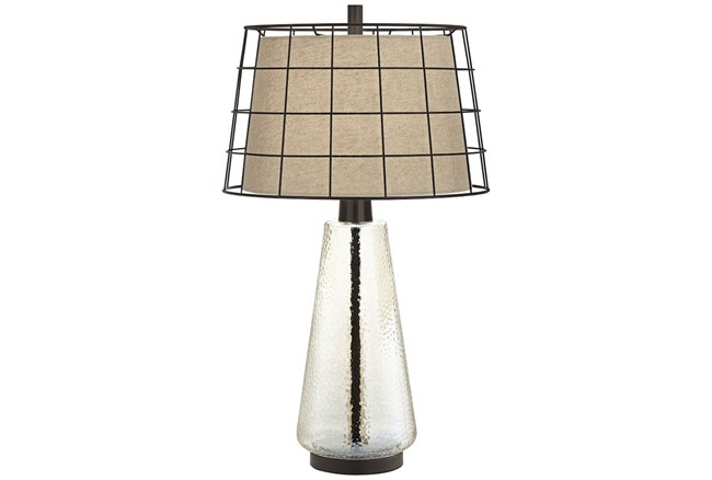 Table Lamp-Clear Grid  - 360