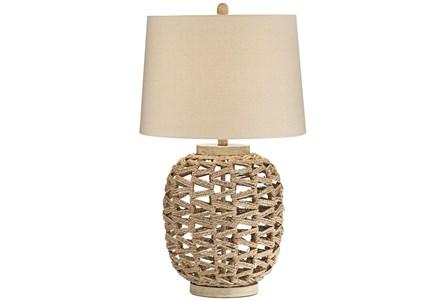 Table Lamp-White Woven - Main