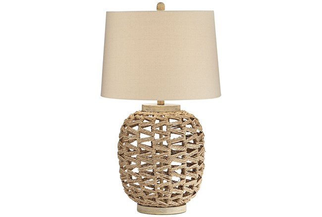 Table Lamp-White Woven  - 360