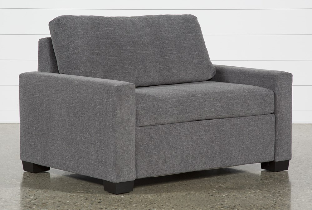 "Mackenzie Charcoal 53"" Twin Sofa Sleeper"