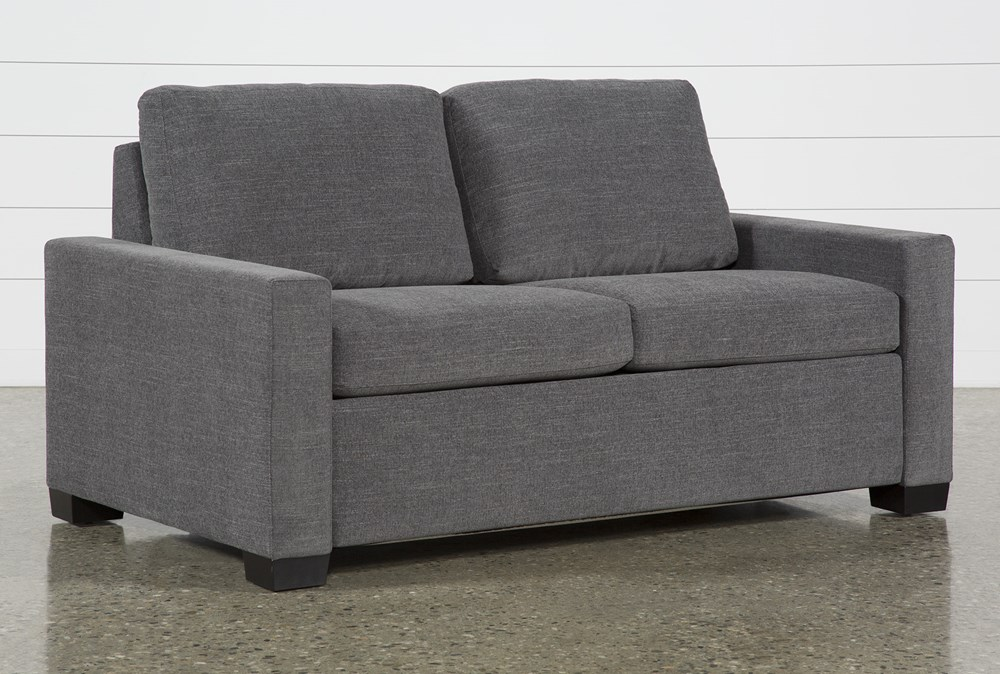 """Mackenzie Charcoal 68"""" Full Sofa Sleeper"""