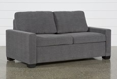 "Mackenzie Charcoal 74"" Queen Sofa Sleeper"