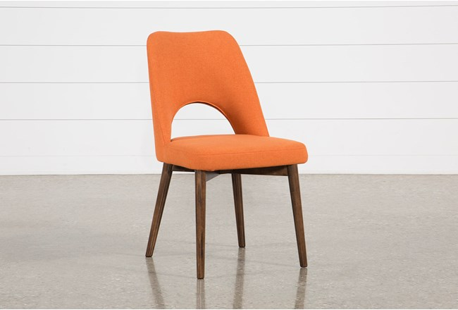 Zuma Orange Dining Side Chair - 360