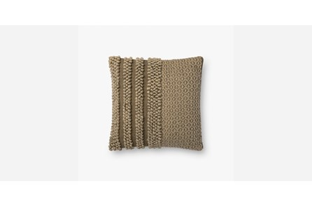 Accent Pillow-Magnolia Home Knotted Stripe Olive 18X18 By Joanna Gaines