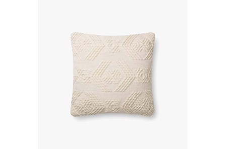 Accent Pillow-Magnolia Home Tonal Diamond Ivory/Ivory 19X19 By Joanna Gaines