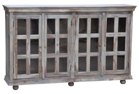 Natural Grey 24 Glass Cabinet