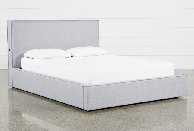 Briggs Queen Upholstered Bed With Storage and USB - 360