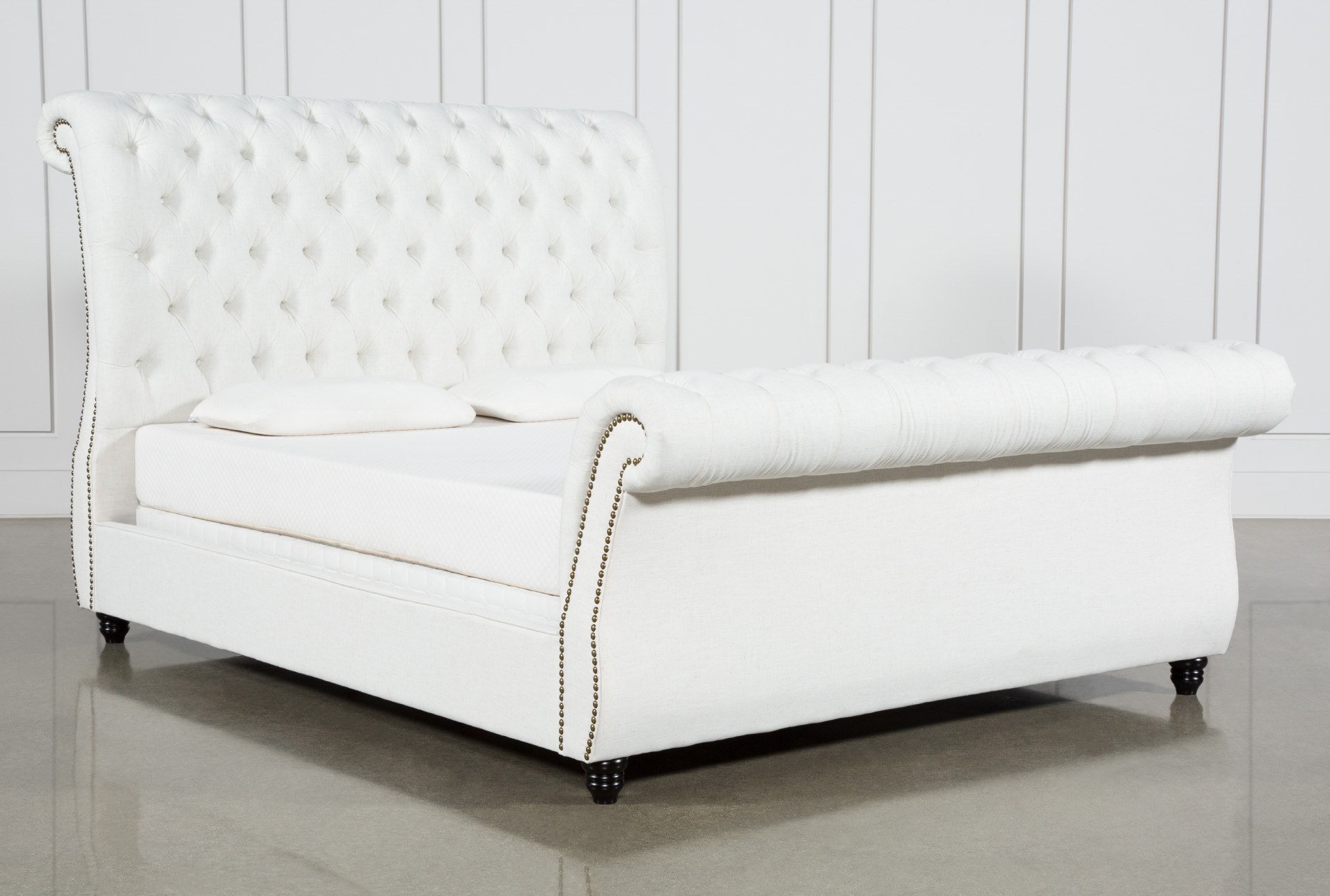 Calistoga Eastern King Upholstered Sleigh Bed Living Spaces
