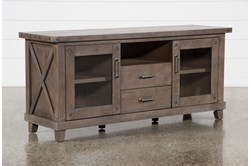 Jaxon Grey 68 Inch TV Stand With Gkass Doors