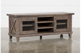 Jaxon Grey 65 Inch TV Stand With Glass Doors