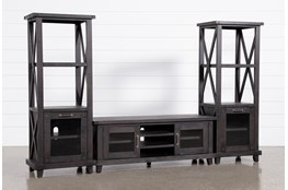 Jaxon 3 Piece Entertainment Center With 65 Inch TV Stand