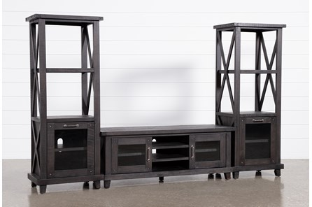 Jaxon 3 Piece Entertainment Center With 65 Inch TV Stand - Main
