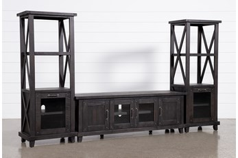 Jaxon 3 Piece Entertainment Center With 76 Inch Plasma Console