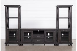 Jaxon 3 Piece Entertainment Center With 68 Inch TV Stand