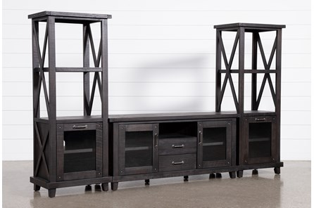 Jaxon 3 Piece Entertainment Center With 68 Inch TV Stand - Main