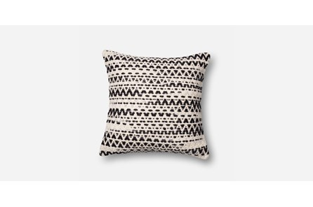 Accent Pillow-Black/White Flamestitch 20X20
