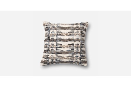 Accent Pillow-Black/Tan Texture Chevron 20X20