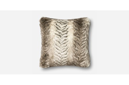 Accent Pillow-White/Grey Fur 20X20