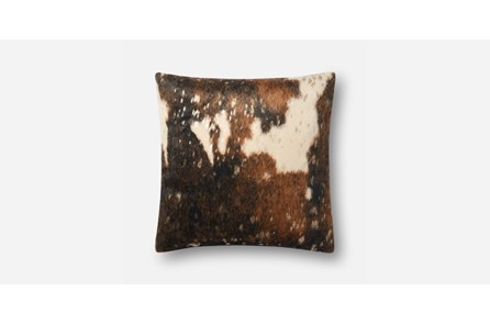 Accent Pillow-Brown/Gold Hide 20X20