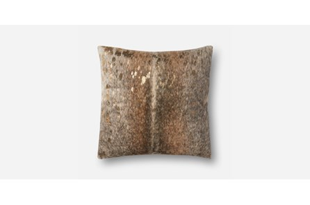 Accent Pillow-Pewter/Gold Hide 20X20