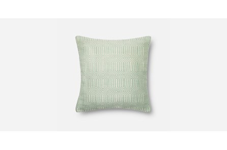 Accent Pillow-Aqua/Ivory Geo 20X20