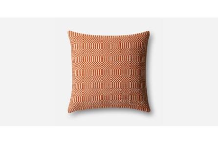 Accent Pillow-Orange/Ivory Geo 20X20