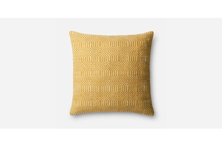 Accent Pillow-Yellow/Ivory Geo 20X20
