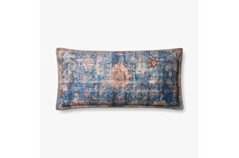 Accent Pillow-Blue/Multi Tapestry 13X28