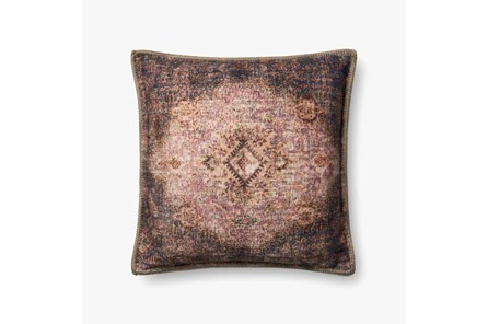 Accent Pillow-Beige/Multi Medallion Tapestry 20X20