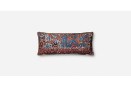 Accent Pillow-Red/Multi Tapestry Kidney 14X36